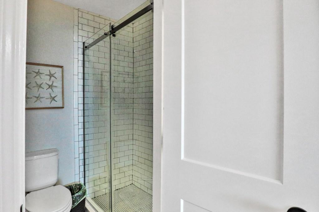 Beautifully tiled walk-in shower