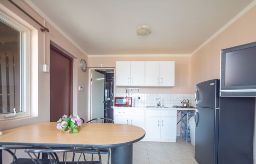 Kitchenette and dining area for the apartment