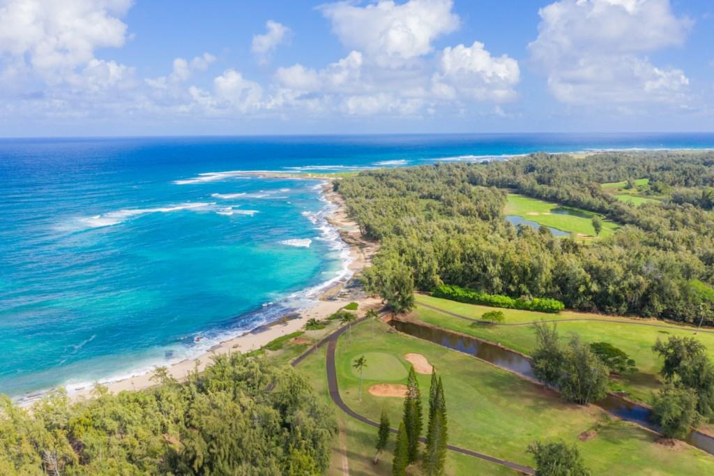 Aerial Shot of Nearby Ocean