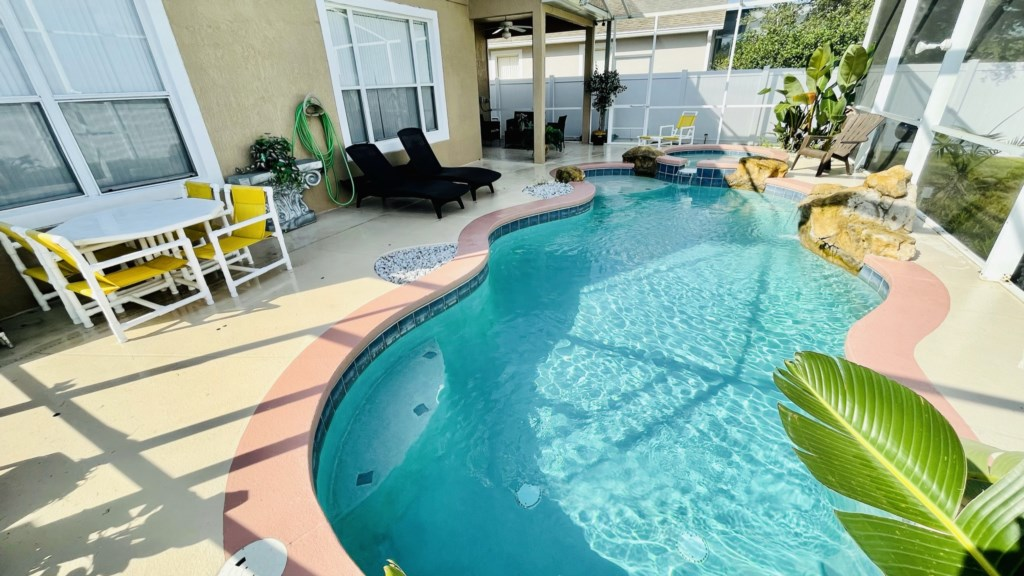 Pool & Spa with private fenced yard