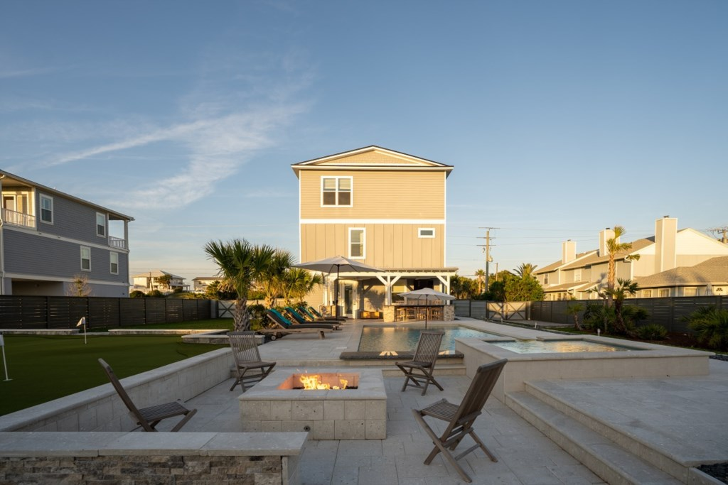 Pool, Fire Pit, and Hot Tub