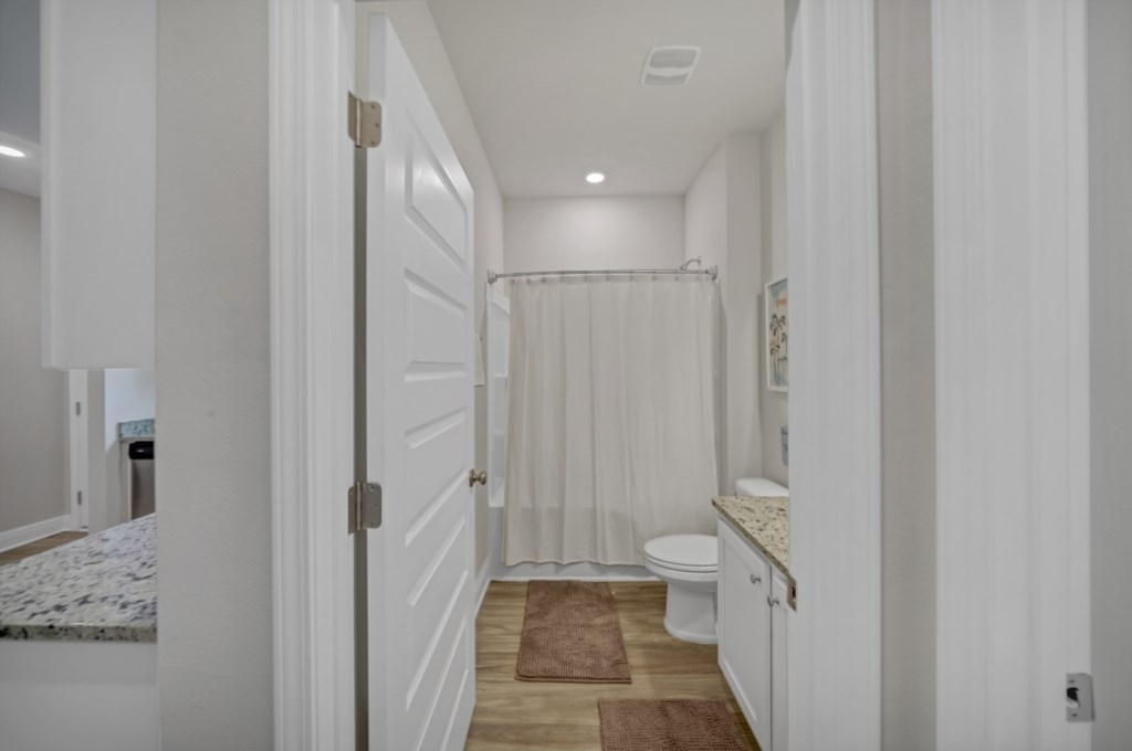 Additional full bathroom with shower/tub combination