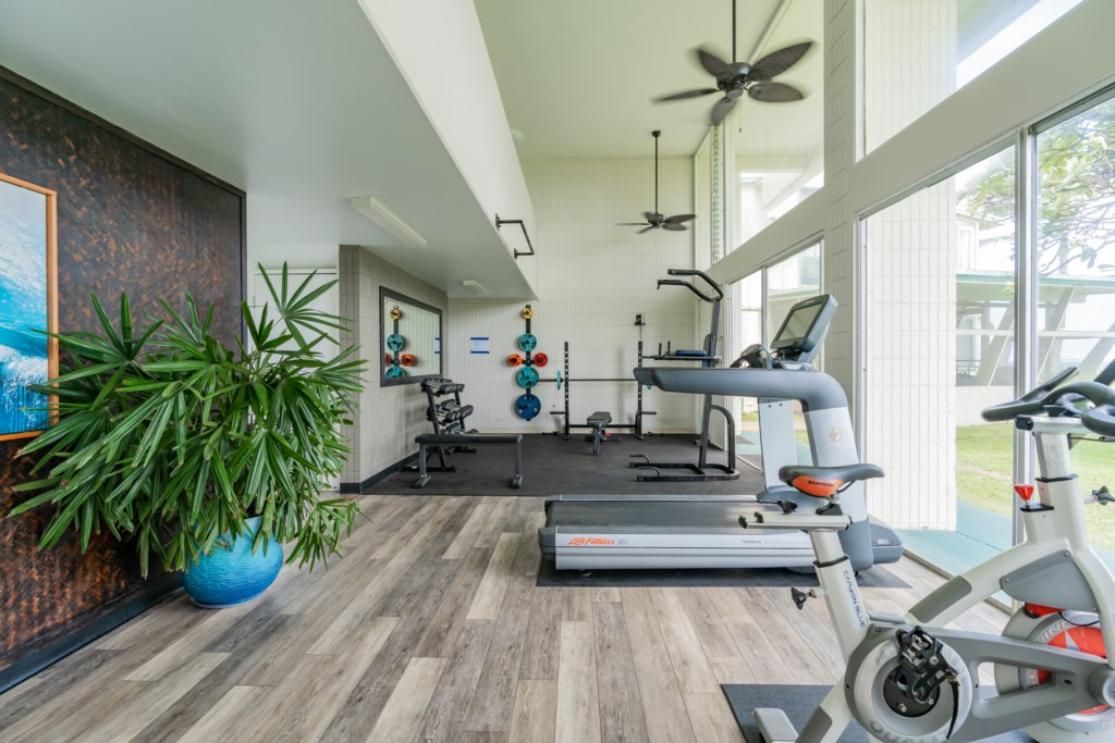 Community Gym With Ocean Views