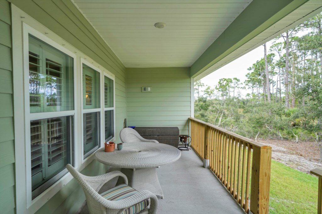 Enjoy cotton candy skies at night on the covered lanai with access to propane grill